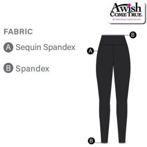 T2026 Customisable Cheer Dance Sequin High Waisted Leggings