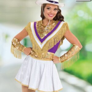 T2064  Legacy Overlay Cheer Team Gold Front