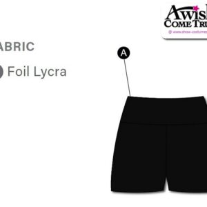 T2068 Customisable Cheer Dance Foil High Waisted Hot Pants