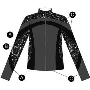 T2094  Cosmic Ultra Impress Dryfit Jacket Cheer Team Silhouette