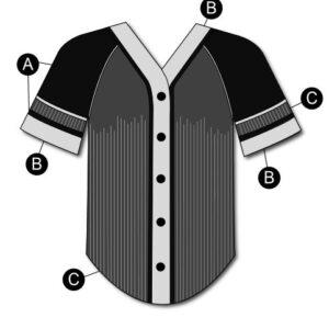 T2124  Baseball Mesh Shirt Cheer Team Silhouette