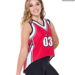 T2128  Basketball Jersey Mesh Cheer Team Truecolors Front