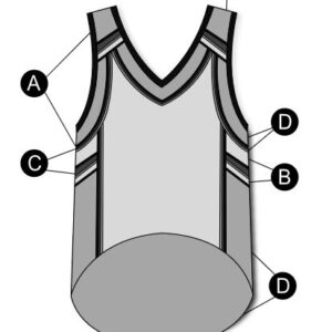 T2130  Basketball Jersey Dryfit Cheer Team Silhouette