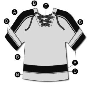 T2131  Hockey Jersey Knit Shirt Cheer Team Silhouette