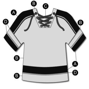 T2133  Hockey Jersey Matte Sequin Shirt Cheer Team Silhouette