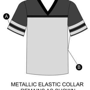 T2136  Football Shirt Mesh Cheer Team Silhouette