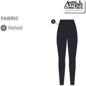T2155 Customisable Cheer Dance Velvet High Waisted Leggings