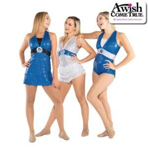 T2181  Tribe Cheer Team Pom Dance Sequin Fringe Leotard Group A