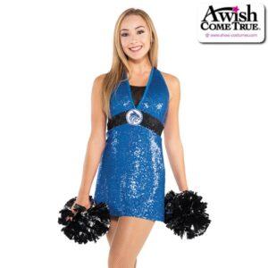 T2182  Tribe Cheer Pom Dance Sequin Dress