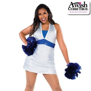 T2182  Tribe Cheer Pom Dance Sequin Dress Silver