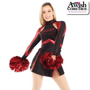 T2185  Rookie Cheer Pom Dance Dress Red