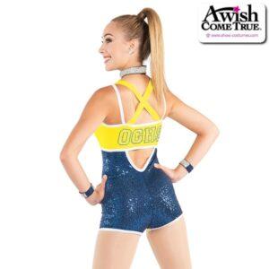 T2187  Nobility Cheer Team Pom Dance Shortall Back