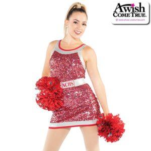 T2188  Steady Cheer Pom Dance Luxe Sequin Dress