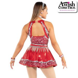 T2190  Upbeat Team Cheer Cowgirl Dress With Icicle Fringe Back