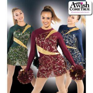 T2192  Glitzy Cheer Pom Dance Sequin Dress
