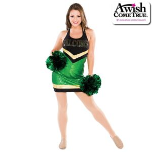 T2199  Acheive Cheer Pom Dance Dress Kelly