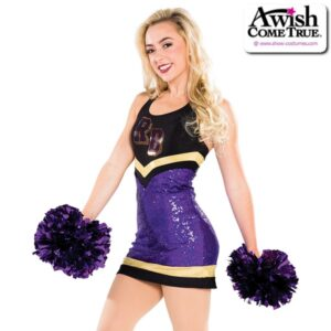 T2199  Acheive Cheer Pom Dance Dress Purple