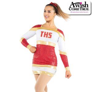 T2204  Premier Cheer Pom Dance Sequin Dress