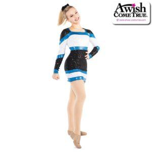 T2204  Premier Cheer Pom Dance Sequin Dress Black