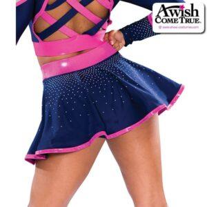 T2208  Cheer Team Dance Flounce Skirt Back