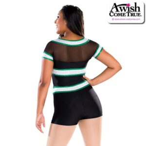 T2209  Out Of Bounds Cheer Pom Dance Shortall Back