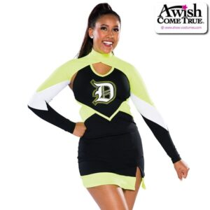 T2212  Timeless Cheer Team Shrug Chartreuse
