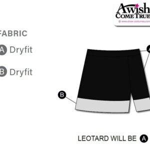 T2213 Customisable Banded Cheer Team Dry Fit Skirt