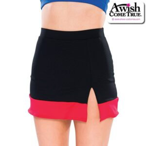 T2213  Banded Cheer Team Dry Fit Skirt Front