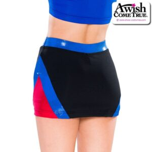 T2233  Classic Cheer Team Dry Fit Skirt Back