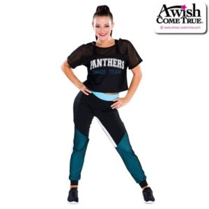 T2234  Court Cheer Team Crop Jersey With Pants