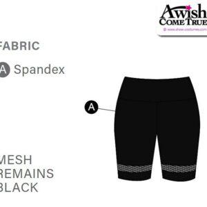 T2245 Customisable Cheer Team Dance Mesh Bike Shorts