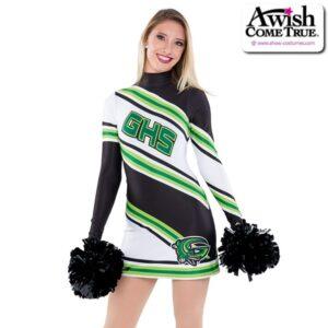 T2248  Crossways Cheer Pom Dance Dress