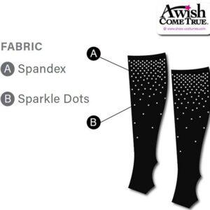 T2251  Customisable Cheer Socks With Sparkle Dot