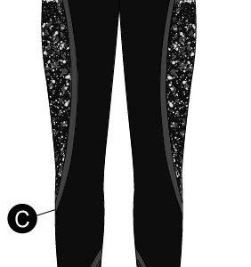 T2417  Cosmic Cheer Team High Waist Leggings Silhouette