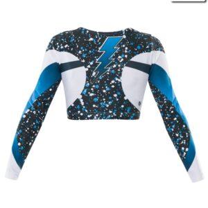 T24  Cosmic Cheer Team Crop Top Back