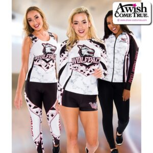 T2515  Perfection Ultra Impress Cheer Team Foil Long Sleeve Top Group