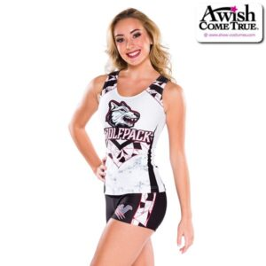 T2519  Perfection Ultra Impress Cheer Team Foil Tank Top With Shorts