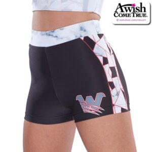 T2521  Perfection Ultra Impress Cheer Team Foil High Waisted Hot Pants