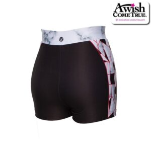 T2521  Perfection Ultra Impress Cheer Team Foil High Waisted Hot Pants Back
