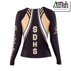 T2615  Courage Ultra Impress Cheer Team Foil Long Sleeve Top Back