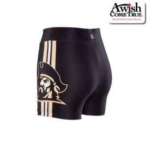 T2621  Courage Ultra Impress Cheer Team Foil High Waisted Hot Pants Back