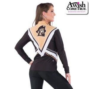T2622  Courage Cheer Team Dryfit Jacket Back