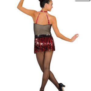 V2120Y  La Cadera Jazz Tap Value Costume Back