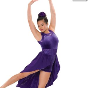 V2198  Can You Hear Me Velvet Hologram Sequin Lyrical Contemporary Dance Dress