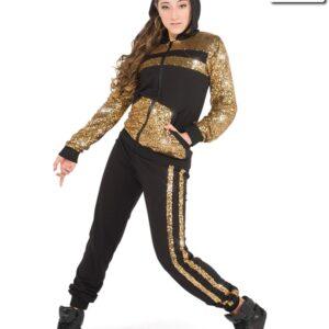 V2213Y  Rolex Sequin Mesh Hip Hop Dance Costume