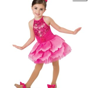 V2216Y  The Garden Fair Sequin Tap Dance Costume Fuchsia