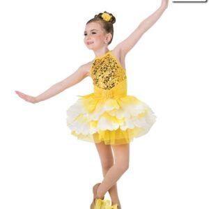 V2216Y  The Garden Fair Sequin Tap Dance Costume Yellow