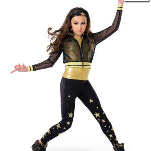 V2218Y  Lucky Strike Glitter Star Hip Hop Dance Costume