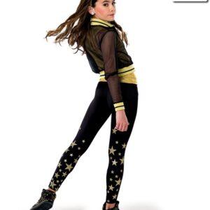 V2218Y  Lucky Strike Glitter Star Hip Hop Dance Costume Back