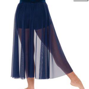 V2229 SK  Be Alright Lyrical Contemporary Dance Mesh Backskirt Navy Back